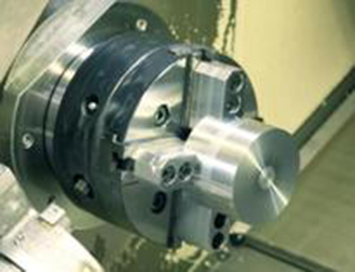 round workpiece on the same chuck